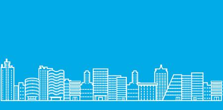 Illustration pour Cityscape line Illustration - image libre de droit