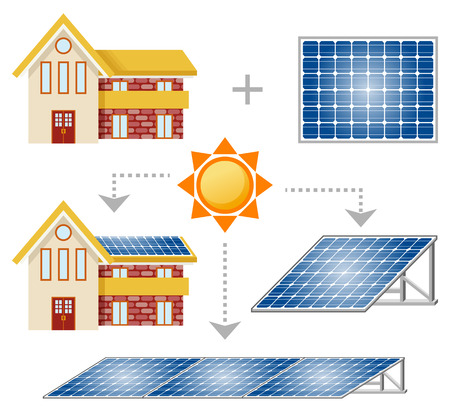 Illustration pour Solar Panel set - image libre de droit