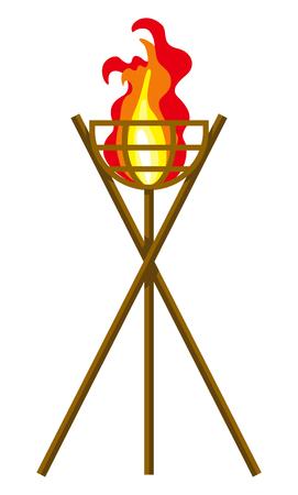 Ilustración de Flaming Torch Clip art - Imagen libre de derechos
