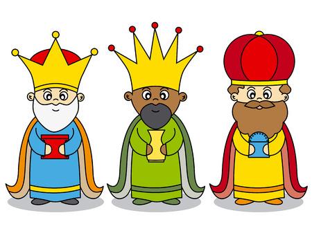 Ilustración de three kings vector - Imagen libre de derechos