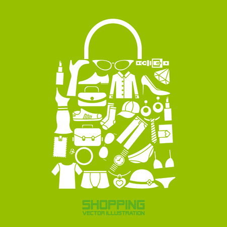 Ilustración de shopping icons - Imagen libre de derechos