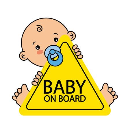 Illustration pour Baby on Board Sign - image libre de droit