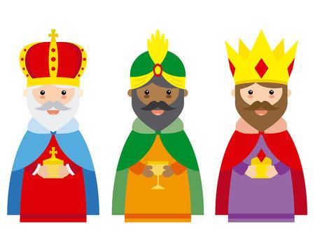 Ilustración de The three wise men of orient - Imagen libre de derechos