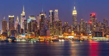 Photo for Manhattan at night - Royalty Free Image