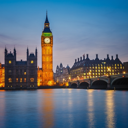 Photo for Big Ben and Houses of parliament at night, London, UK - Royalty Free Image