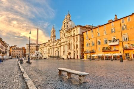 Foto de Piazza Navona in Rome, Italy - Imagen libre de derechos