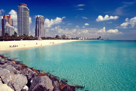 Photo pour South Beach in Miami, Florida - image libre de droit