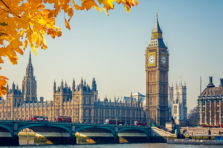 Foto de Big Ben and Houses of parliament in London, UK - Imagen libre de derechos