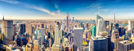 Photo for New York City Manhattan aerial view - Royalty Free Image