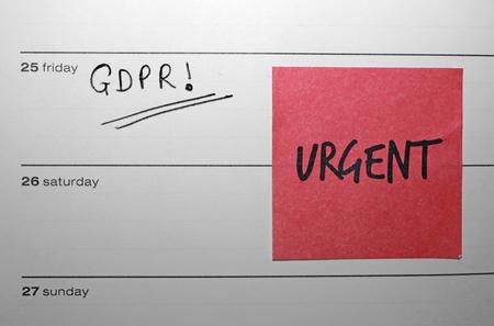 Foto de General Data Protection Regulation (GDPR) Diary Urgent Reminder - Imagen libre de derechos