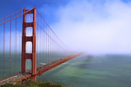 Photo for Fog At The Golden Gate Bridge - Royalty Free Image