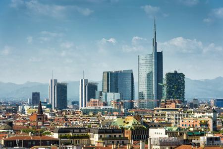 Foto de Milan skyline with modern skyscrapers in Porto Nuovo business district in Italy - Imagen libre de derechos