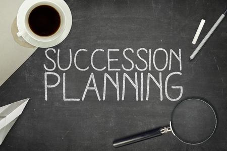 Foto de Succession planning concept on blackboard with pen - Imagen libre de derechos