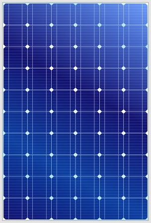 Illustration pour Detailed vector illustration of blue silicon photovoltaic electric solar panel texture - image libre de droit