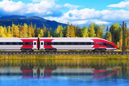 Photo pour Creative abstract railroad travel and railway tourism transportation industrial concept - image libre de droit