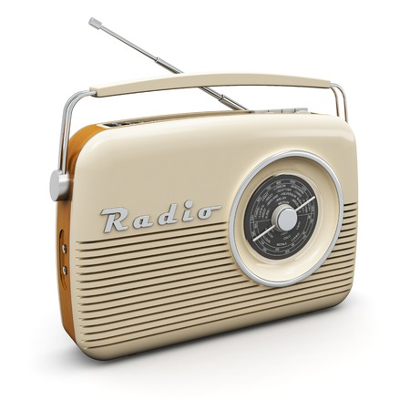 Photo for Old vintage retro style radio receiver isolated on white background - Royalty Free Image