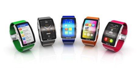 Foto per Creative business mobility and modern mobile wearable device  - Immagine Royalty Free