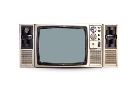 Photo pour Vintage TV set isolated. Clipping path included. - image libre de droit