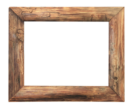 Photo for Wood  picture frame isolated on a black background. - Royalty Free Image