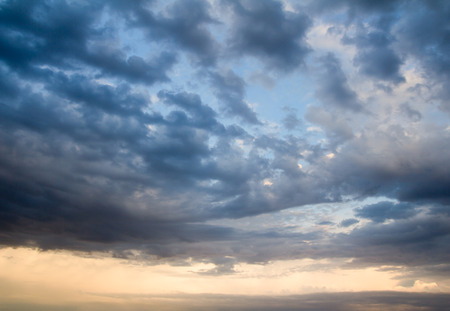 Photo for background of the sky with clouds at sunset - Royalty Free Image