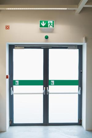 Foto de Indoor emergency exit in the hardware store - Imagen libre de derechos