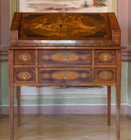 Foto de Antique furniture. The secretary - Imagen libre de derechos