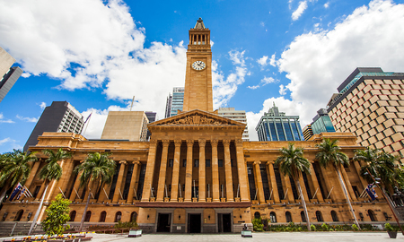 Photo for City Hall in Brisbane Australia from King George Square - Royalty Free Image