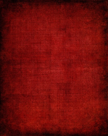 Old vintage red cloth with a screen pattern and dark vignette.