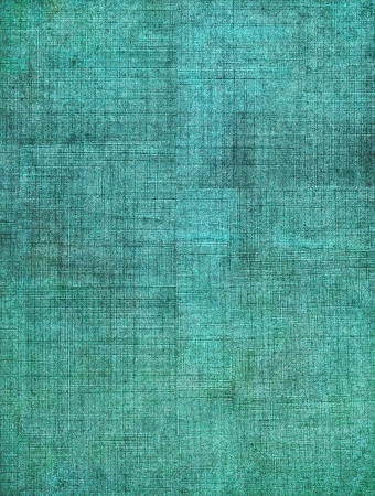 A turquoise, vintage cloth book cover with a heavy sceen pattern and grunge background textures.