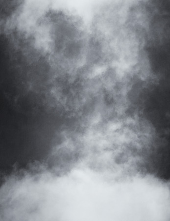 Photo for A black and white rendition of fog and clouds on a textured paper background.  Image displays a distinct paper grain and texture at 100 percent. - Royalty Free Image
