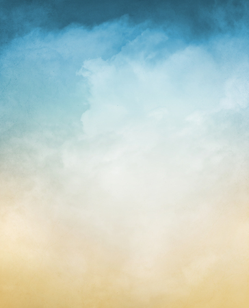 Foto de An abstraction of fog and clouds on a textured background with a pastel color gradient.  Image displays a distinct grain and texture at 100 percent. - Imagen libre de derechos