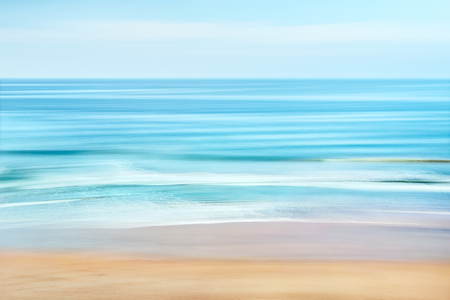 Photo for A tranquil seascape of the Pacific ocean off the coast of California.  Image features blurred water movement captured with a long exposure. - Royalty Free Image