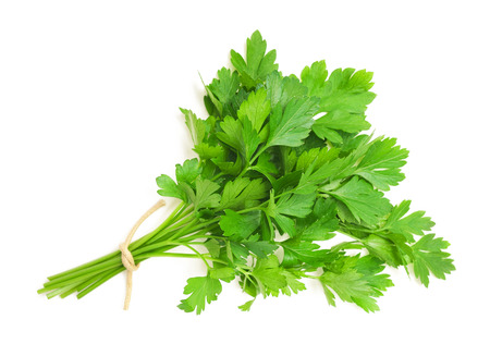 Photo pour parsley bunch isolated on white background - image libre de droit