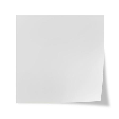 Photo pour White post it on a white background - image libre de droit
