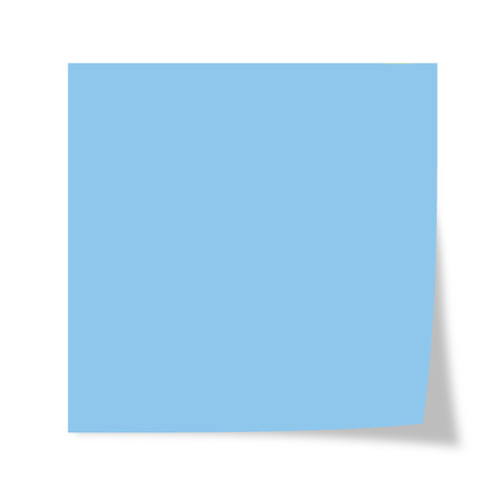 Photo for Blue post it isolated on a white background - Royalty Free Image
