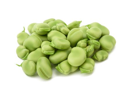 Photo for broad beans heap isolated on  white background - Royalty Free Image