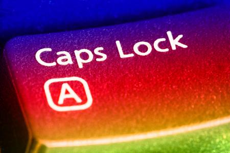 Foto de Caps Lock Key close up. EF 100 mm close up lens used. - Imagen libre de derechos