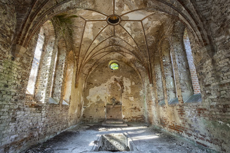 Foto de The interior of a forgotten church - Imagen libre de derechos