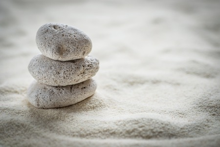 Photo for zen  stones  on the sand - Royalty Free Image