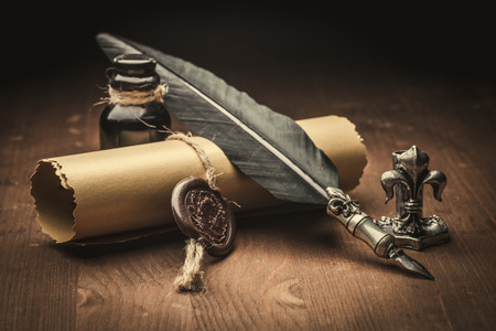 Photo for old paper and fountain pen - Royalty Free Image