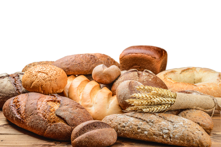Photo for fresh bread  and wheat on the wooden - Royalty Free Image