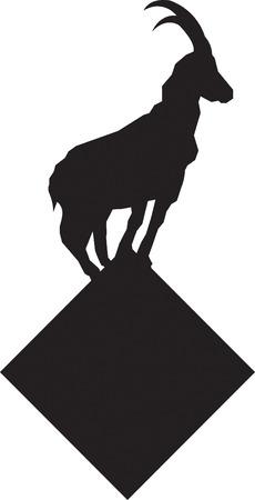 Illustration pour Mountain Goat - image libre de droit