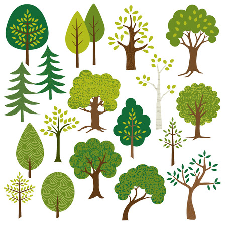 Illustration for trees clipart - Royalty Free Image