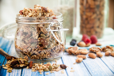 Photo for Chunky Nutty Granola for Healthy Snacks & Breakfast - Royalty Free Image
