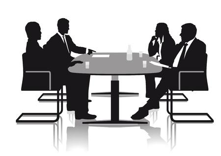 Ilustración de Conversations in the office  - Imagen libre de derechos
