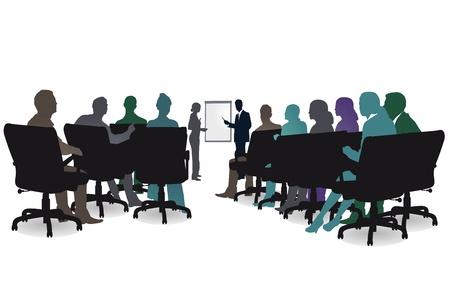 Illustration pour seminar session - image libre de droit