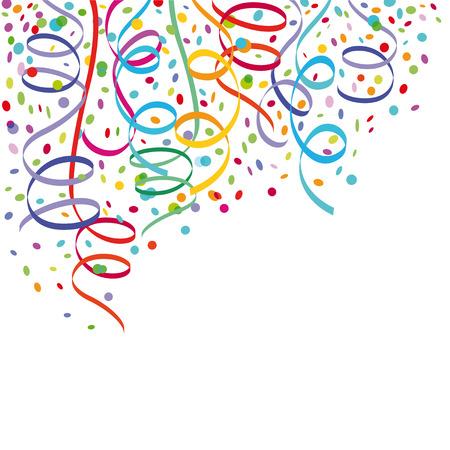 Illustration pour Confetti and streamers  - image libre de droit