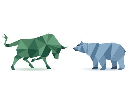 Illustration pour Bear and bull  - image libre de droit