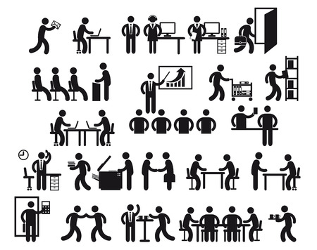 Illustration for Office Jobs  - Royalty Free Image