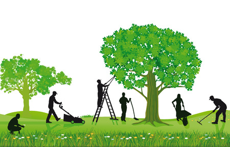 Illustration for Gardening plants and pruning  - Royalty Free Image
